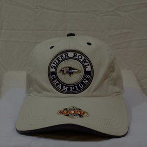 SB XXXV CHAMPS BALTIMORE RAVENS HAT